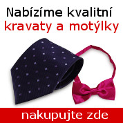 Kravaty, motýlky