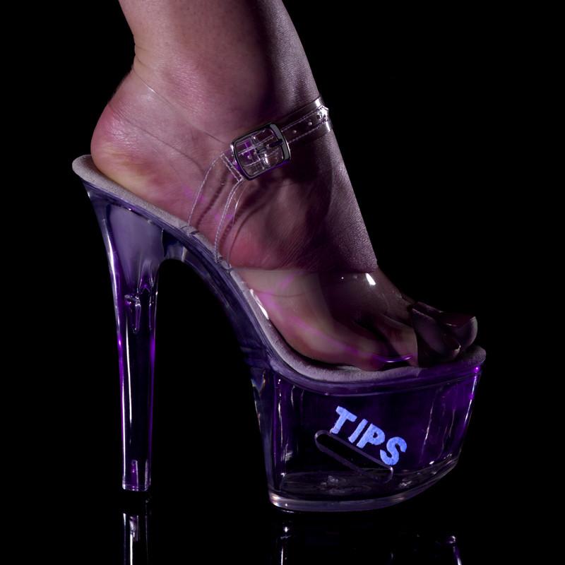 Tipjar-708-5 pantoflíčky na vysoké platformě a podpatku Pleaser