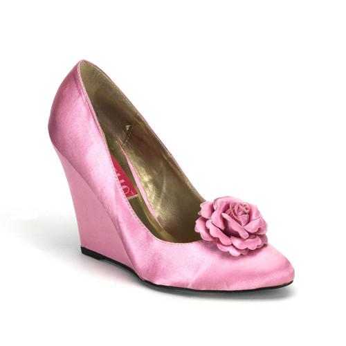 Camille-01 růžové saténové lodičky Pleaser