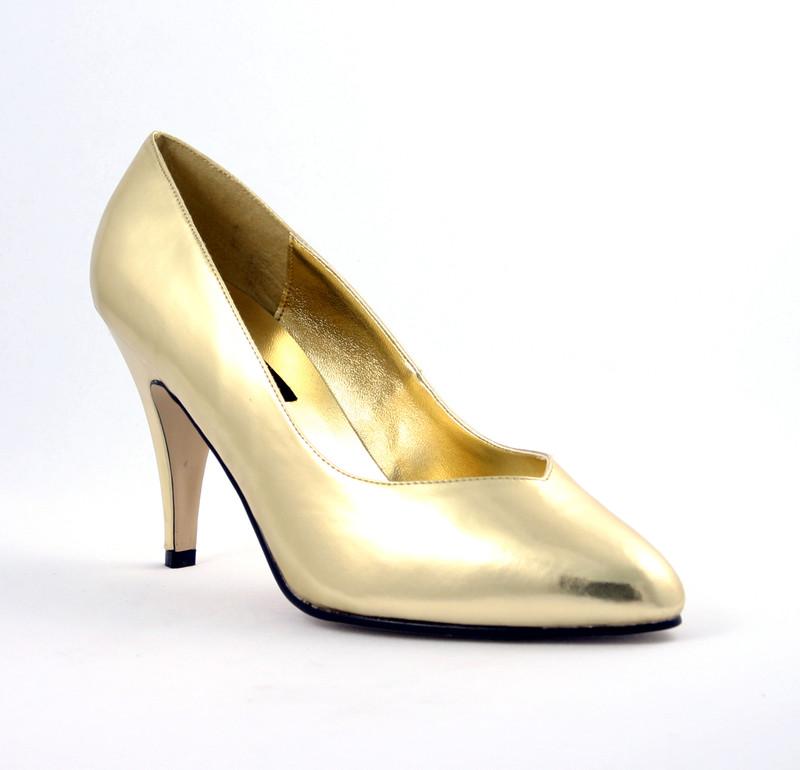 Dream-420w zlaté lodičky Pleaser na podpatku