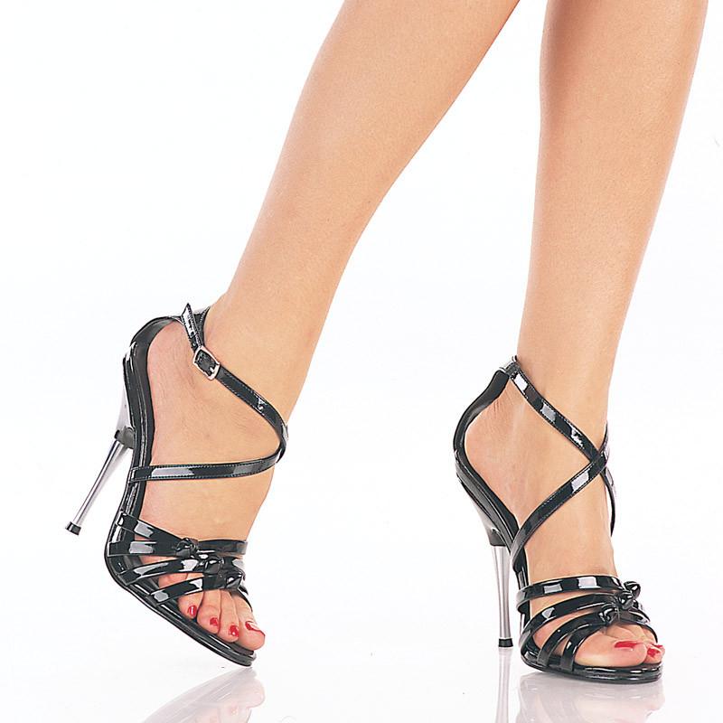 Entice-115 černé sandálky na podpatku