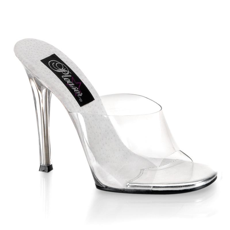Gala-01 průhledné pantoflíčky na podpatku