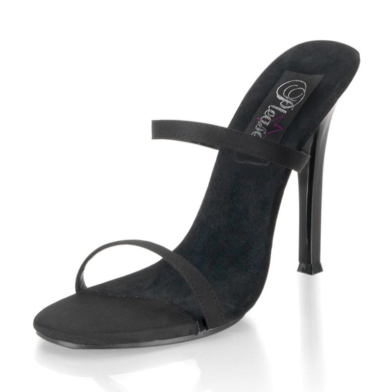 Gala-02 černé pantoflíčky na podpatku