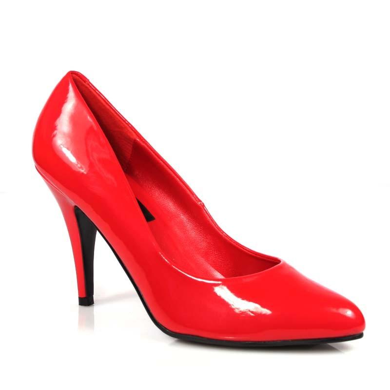 Vanity-420 červené lodičky Pleaser na podpatku