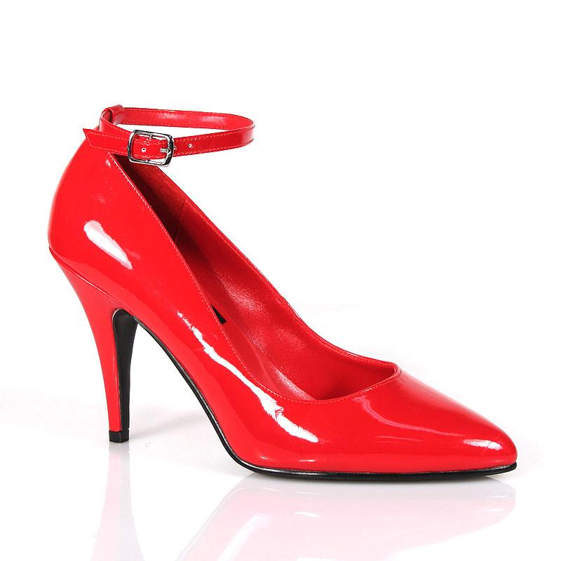 Vanity-431 červené lodičky Pleaser na podpatku