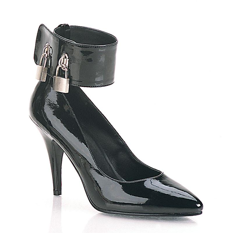 Vanity-434 černé lodičky Pleaser na podpatku