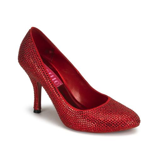 Violette-14r červené luxusní vykamínkované lodičky Bordello