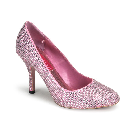 Violette-14r růžové luxusní vykamínkované lodičky Bordello