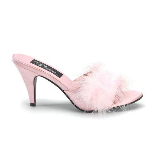 Amour-03 růžové pantoflíčky na podpatku