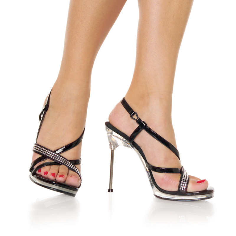 Chic-36 sandálky Pleaser na jehlovém podpatku