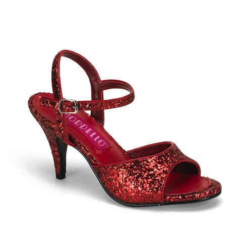 Kitten-35G červené sandálky na podpatku