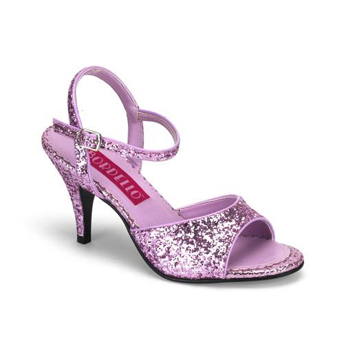 Kitten-35G fialové sandálky na podpatku