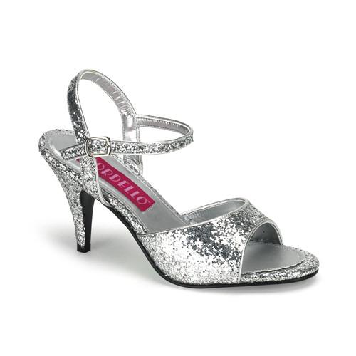 Kitten-35G stříbrné sandálky na podpatku