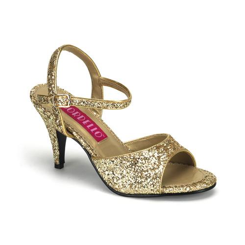 Kitten-35G zlaté sandálky na podpatku