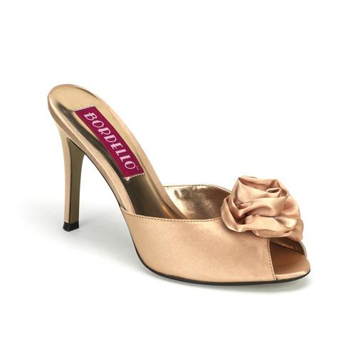Rosa-01 pantofle s barvou champagne na podpatku