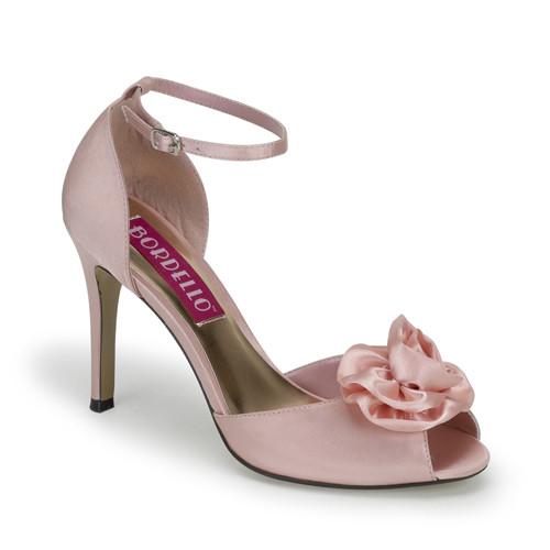 Rosa-02 růžové sandále na podpatku
