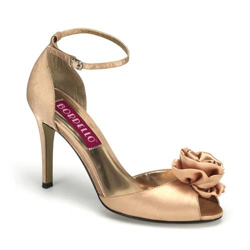 Rosa-02 sandále s barvou champange na podpatku