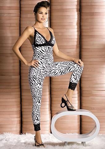 Souprava Obsessive Zebra top+pants