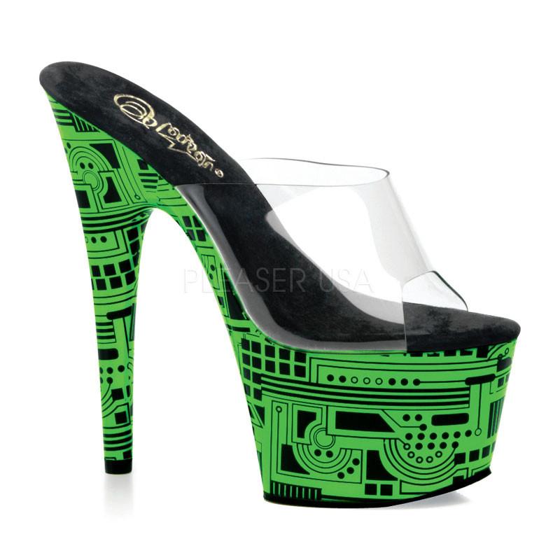 Motif-601CY pantoflíčky Pleaser na platformě
