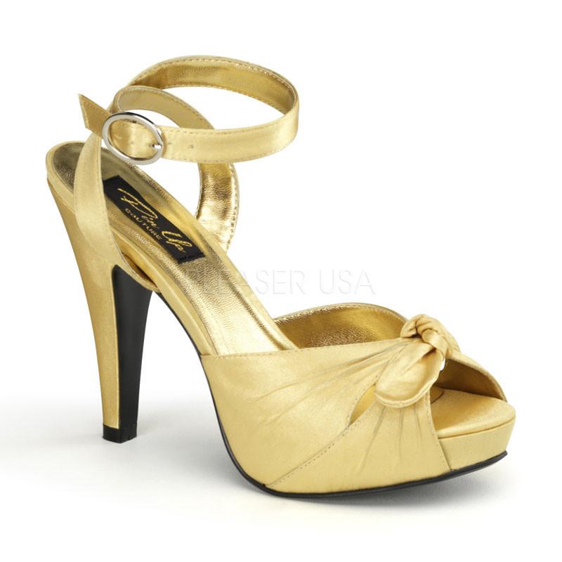 Bettie-04 zlaté dámské sandálky Pleaser