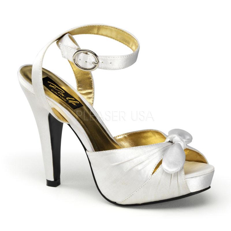 Bettie-04 stříbrné dámské sandálky Pleaser
