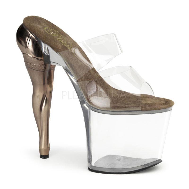 Vixen-702 dámské pantoflíčky na platformě