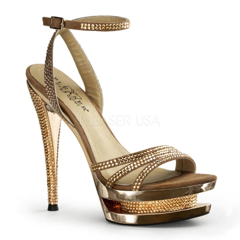 Fascinate 637-Dámské sandálky Pleaser na platformě