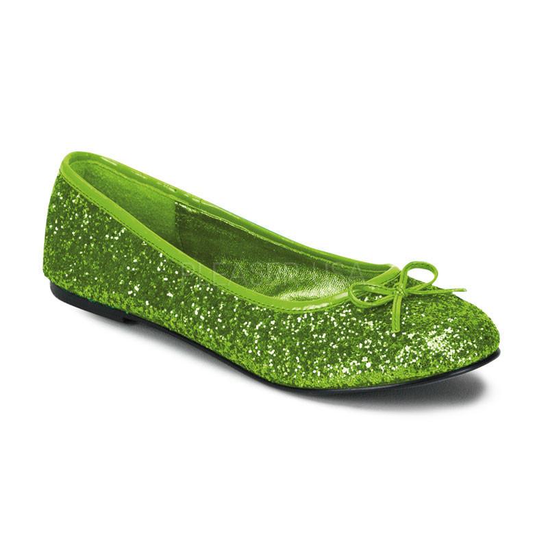 Star 16G zelené balerínky Pleaser