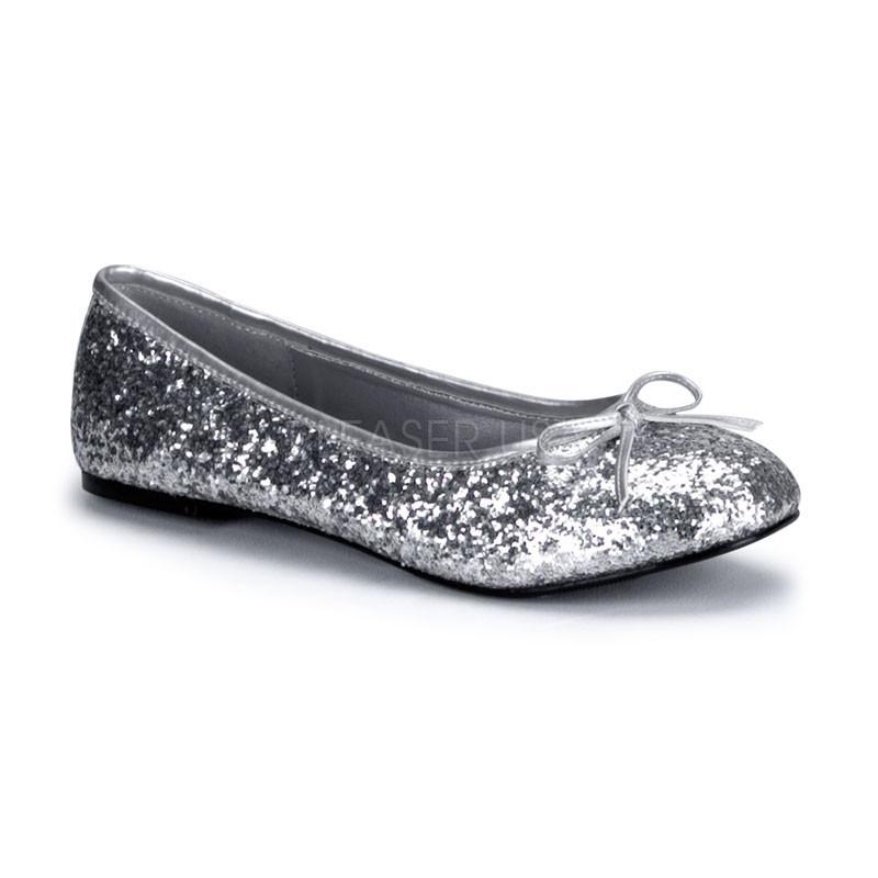 Star 16G stříbrné balerínky Pleaser