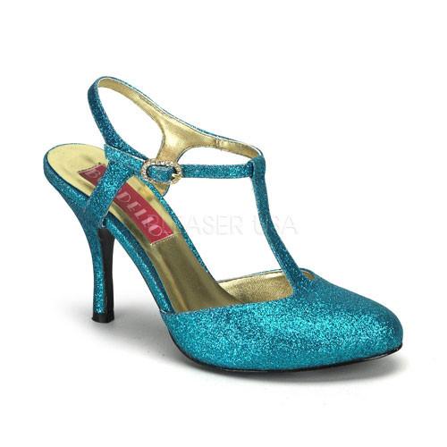 Violette 12G tyrkysové sandálky Pleaser