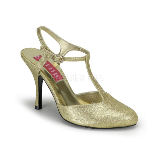 Violette 12G zlaté sandálky Pleaser