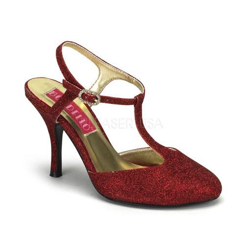 Violette 12G červené sandálky Pleaser