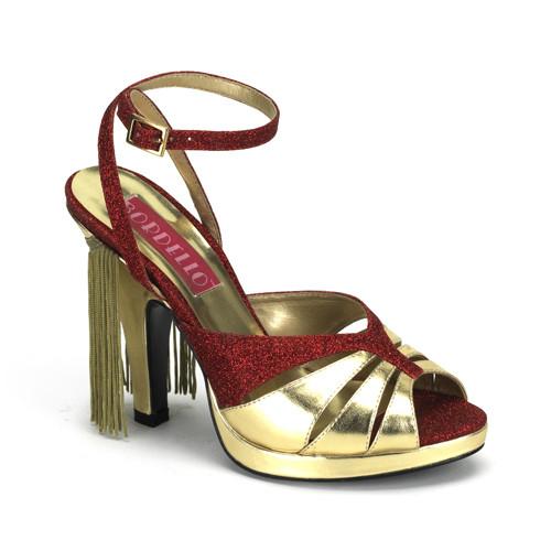 Siren-05G dámská obuv Pleaser na platformě a podpatku