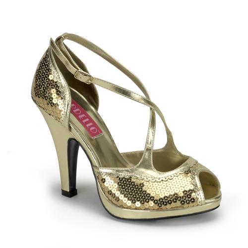 Siren-07SQ dámská obuv Pleaser na platformě a podpatku
