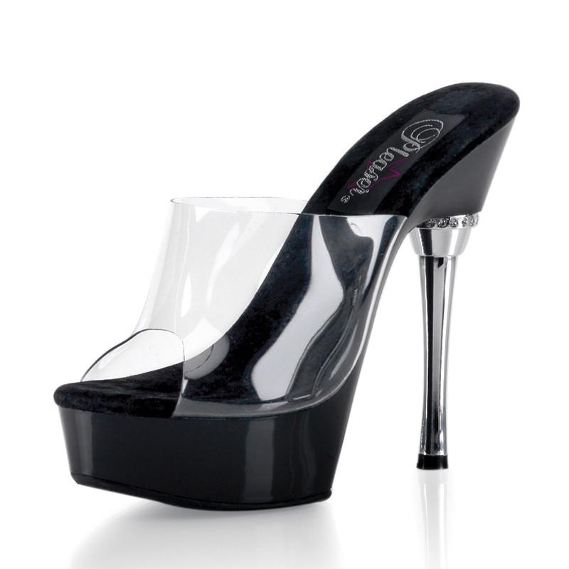 Allure-601 boty Pleaser platformě a vysokém podpatku