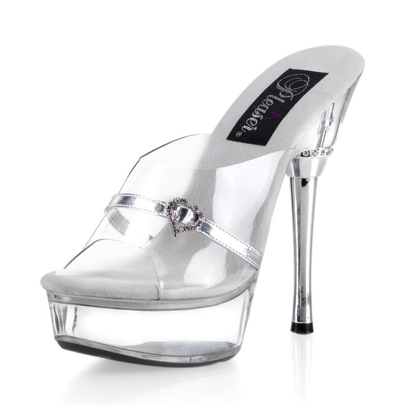 Allure-601H elegantní boty na střední platformě a vysokém podpatku