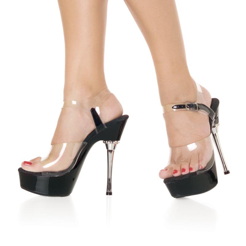 Allure-608 elegantní boty Pleaser na platformě a podpatku