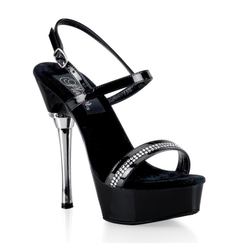 Allure-617 pantoflíčky Pleaser na platformě a podpatku