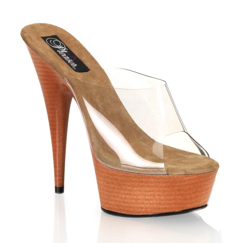 Delight-601W dámská obuv Pleaser na střední platformě a podpatku