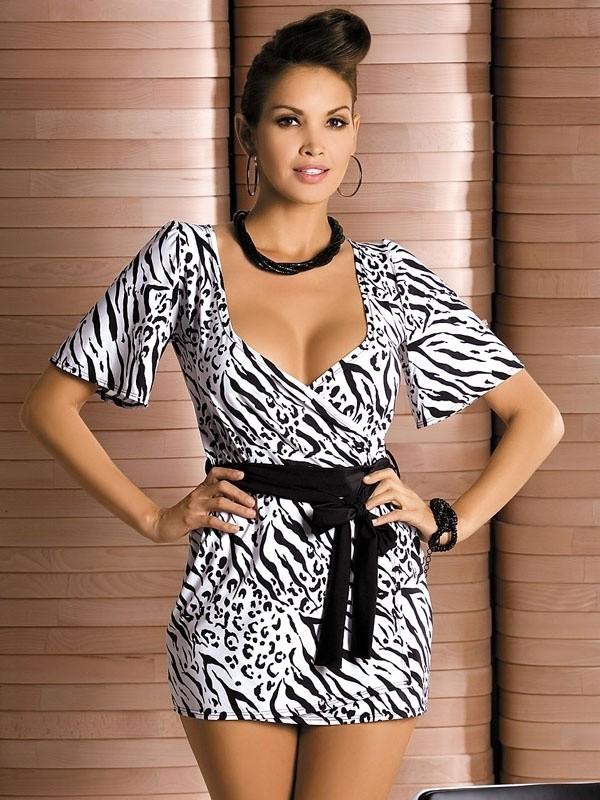 Župan Obsessive Zebra robe
