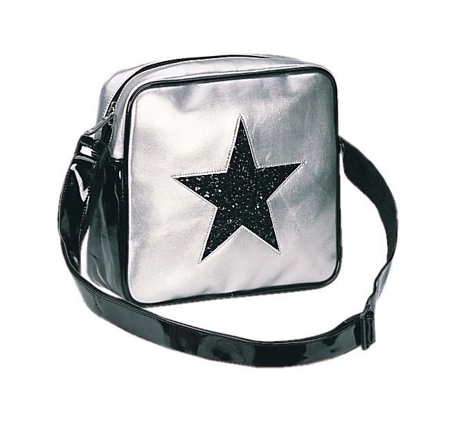 Taška přes rameno - stříbrná