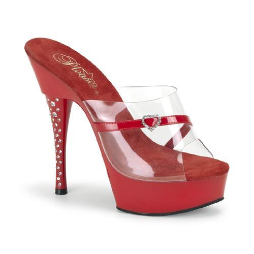 Diamond-601H pantoflíčky Pleaser na střední platformě a podpatku