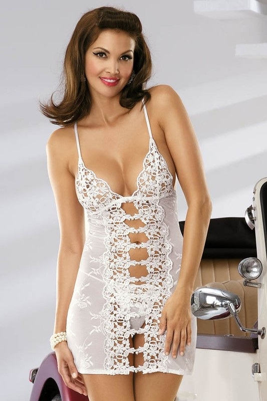 Košilka Obsessive Bride chemise