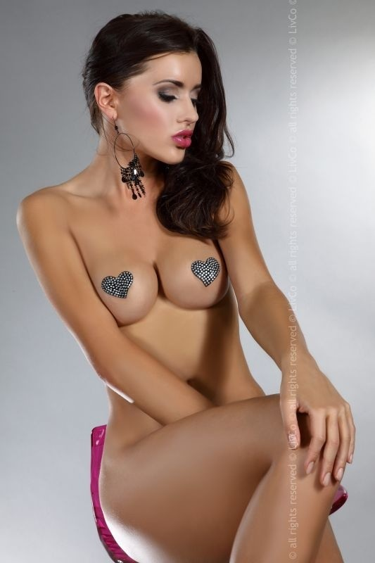 Lepítka LivCo Corsetti Heart nipple covers model 12