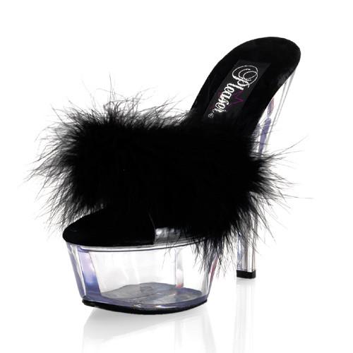 Kiss-201F pantofle na platformě a podpatku Pleaser