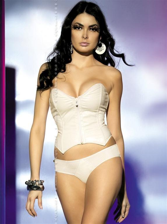 Korzet Obsessive Ivory corset