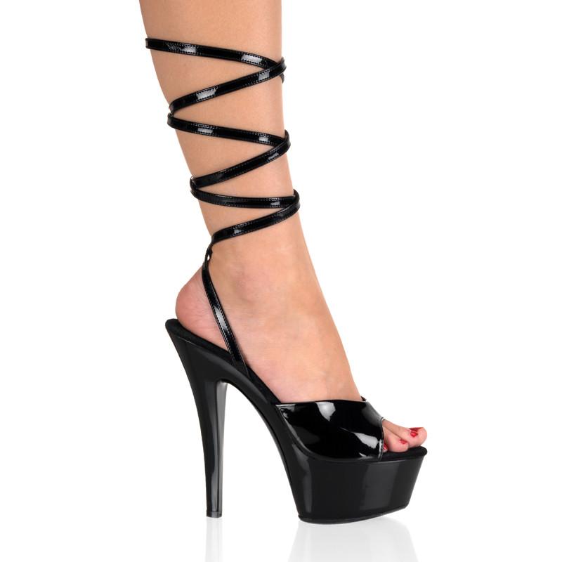 Kiss-212 sandálky na platformě a podpatku Pleaser