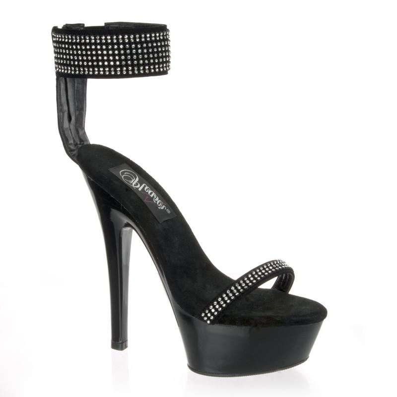 Kiss-270 sandálky na platformě a podpatku Pleaser