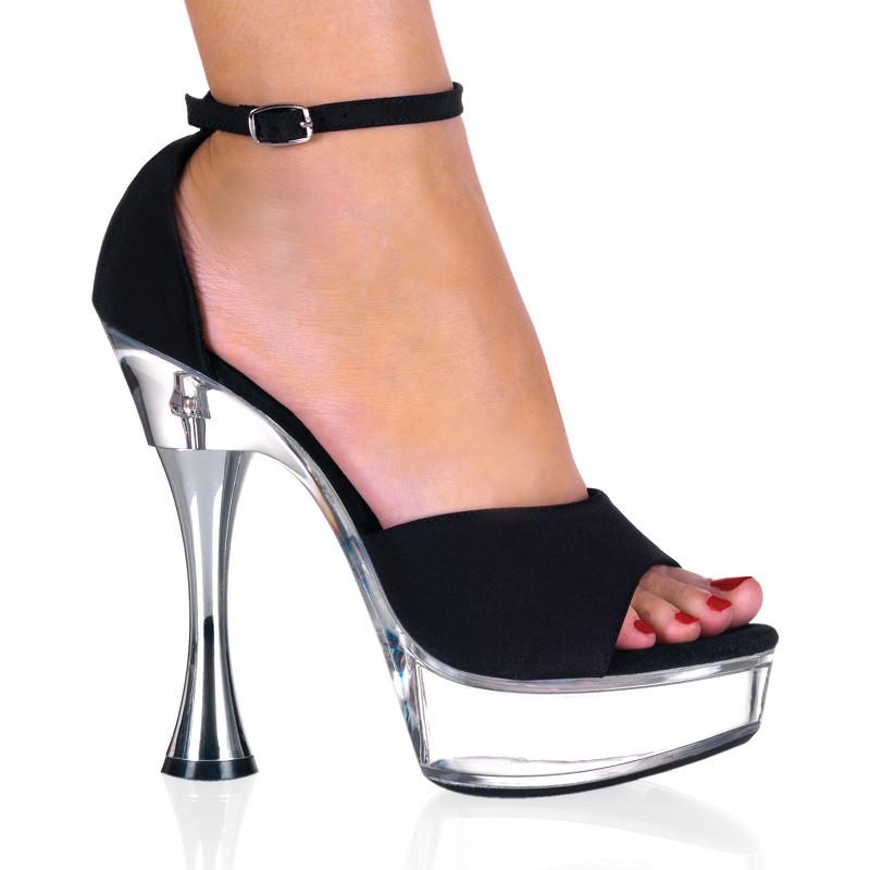 Sweet-436 sandálky Pleaser na střední platformě a podpatku