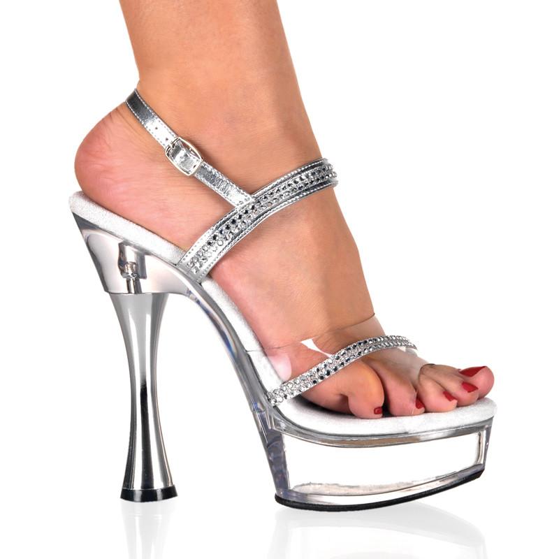 Sweet-439 sandálky Pleaser na střední platformě a podpatku